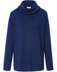 Peter Hahn Cashmere Rollkragen-pullover aus 100% premium-kaschmir - Blau