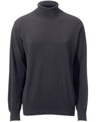 Peter Hahn Cashmere Pullover aus 100% PREMIUM Kaschmir Modell Roland grau