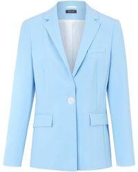 Basler Le blazer long col tailleur taille 40 - Bleu