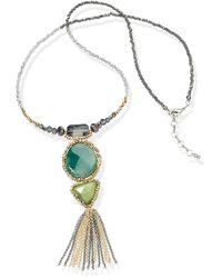 Emilia Lay Le collier perles verre avec pendentif - Vert