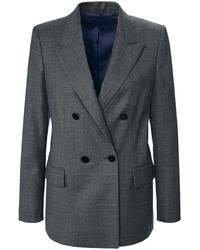 Windsor. Le blazer col tailleur taille 40 - Gris