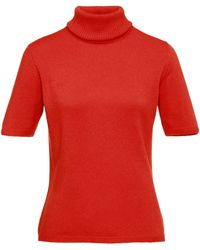 Peter Hahn Cashmere Rollkragen-pullover aus 100% premium-kaschmir - Orange