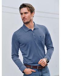 Bugatti Polo-shirt 1/1-arm - Blau