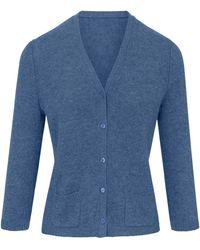 Peter Hahn Cashmere - Strickjacke aus 100% Premium-Kaschmir blau - Lyst
