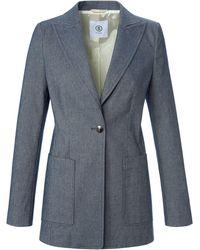 Bogner Le blazer long coton stretch taille 38 - Bleu