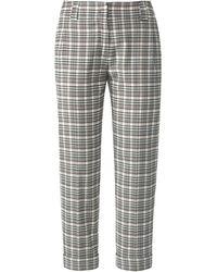 Fadenmeister Berlin Le pantalon 7/8 à plis marqués taille 38 - Gris