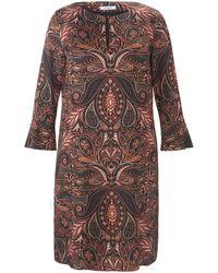 Elena Miro La robe encolure ras-de-cou taille 50 - Multicolore