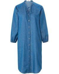 Peter Hahn Kleid 3/4-arm - Blau