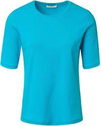 Peter Hahn Le t-shirt 100% coton taille 38 - Bleu