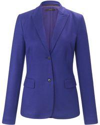 Windsor. Le blazer jersey 100% laine taille 40 - Violet