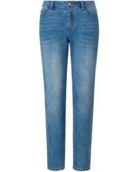 Emilia Lay Le jean modèle délavé décontracté taille 56 - Bleu