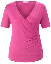 Emilia Lay Wickel-shirt etwas tieferem v-ausschnitt - Pink