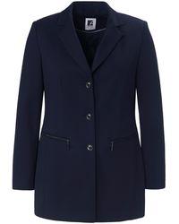 Anna Aura Le blazer jersey élégant jersey extensible taille 42 - Bleu