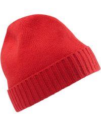 Peter Hahn Cashmere Mütze aus 100% premium-kaschmir - Rot