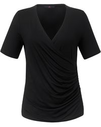 Emilia Lay Wickel-shirt etwas tieferem v-ausschnitt - Schwarz