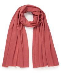 include Schal aus 100% kaschmir - Pink