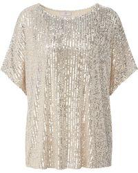 Riani Pailletten-shirt kimono-halbarm - Mettallic