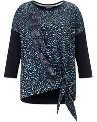 Samoon Blusen-shirt 3/4-arm - Blau