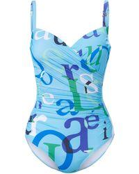 Féraud Le maillot bain à armatures taille 50 - Bleu