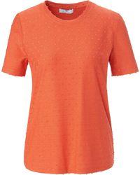Peter Hahn Le t-shirt encolure ronde taille 38 - Orange