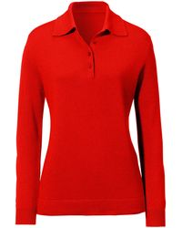 Peter Hahn Polo-pullover modell pia - Rot