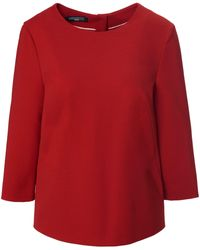 Fadenmeister Berlin Jersey-bluse 3/4-arm - Rot