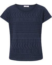 Peter Hahn Rundhals-shirt - Blau
