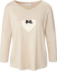 Eva B. Bitzer Pyjama-shirt - Natur