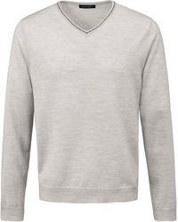 Louis Sayn V-pullover aus 100% schurwolle biella yarn - Grau