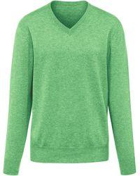 Peter Hahn V-pullover aus 100% premium-kaschmir - Grün
