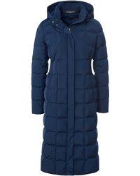 Fadenmeister Berlin Le manteau doudoune à capuche taille 38 - Bleu
