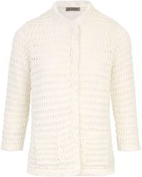 Uta Raasch Le gilet manches 3/4 taille 40 - Blanc