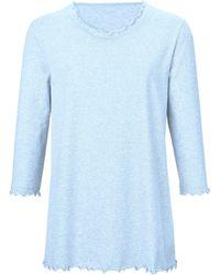 Peter Hahn Schlafanzug 3/4-arm - Blau