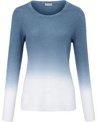 include Rundhals-pullover aus 100% premium-kaschmir - Blau