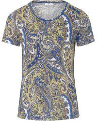 Peter Hahn Le t-shirt jersey côtelé taille 38 - Bleu