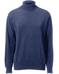 Peter Hahn Cashmere Pullover aus 100% PREMIUM Kaschmir Modell Roland blau