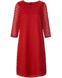 Uta Raasch La robe manches 3/4 transparentes taille 42 - Rouge