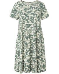 Green Cotton Jersey-kleid 1/2-arm - Grün
