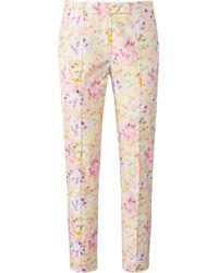 Uta Raasch Le pantalon longueur chevilles à plis marqués taille 42 - Rose