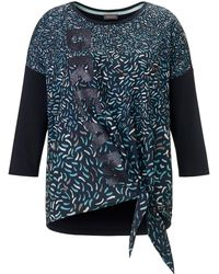 Samoon La blouse manches 3/4 taille 44 - Bleu