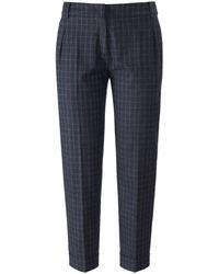 Fadenmeister Berlin Le pantalon 7/8 à pinces taille 48 - Bleu
