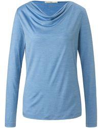 Lanius Le t-shirt encolure bénitier taille 38 - Bleu
