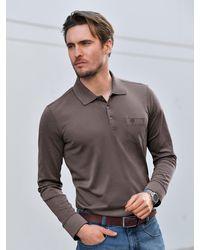 Bugatti Polo-shirt 1/1-arm - Braun
