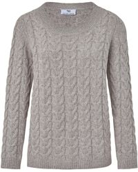 Peter Hahn Rundhals-pullover aus 100% softwool - Grau