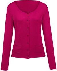 FLUFFY EARS - Cardigan aus 100 % Kaschmir pink - Lyst