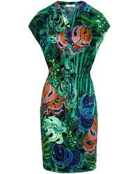 Peter Hahn Kleid überschnittener schulter - Grün