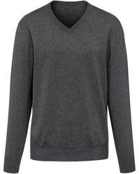 Peter Hahn Cashmere V-pullover aus 100% premium-kaschmir - Grau