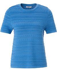 Peter Hahn Rundhals-pullover 1/2-arm - Blau