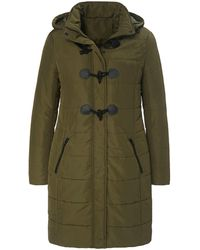 Emilia Lay Le manteau matelassé style duffle-coat taille 42 - Vert
