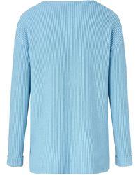 Peter Hahn V-pullover - Blau